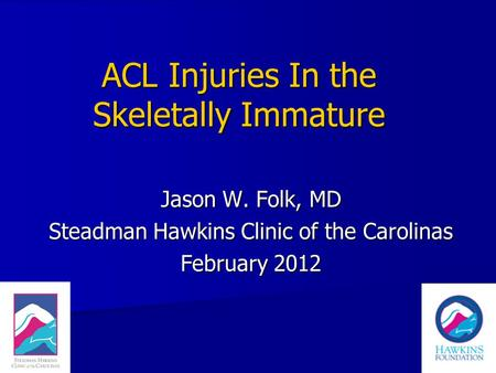 ACL Injuries In the Skeletally Immature