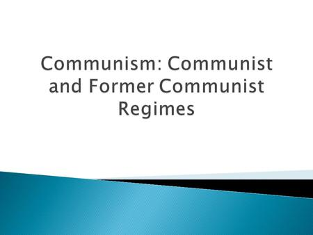 1) Marxism 2) Leninism 3) Stalinism 4) Maoism 5) The Crisis of Communism.