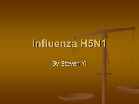 Influenza H5N1 By Steven Yi. Contents Contents 1. Overview 2. History 3. Attachment 4. Entry 5. Replication 6. Lytic Cycle 7. Diagnosis 8. Treatment.