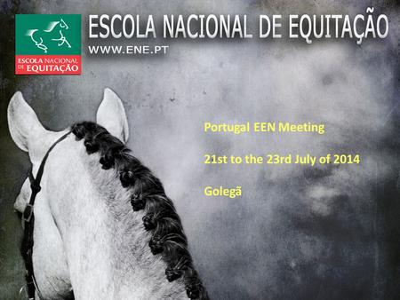 Portugal EEN Meeting 21st to the 23rd July of 2014 Golegã.