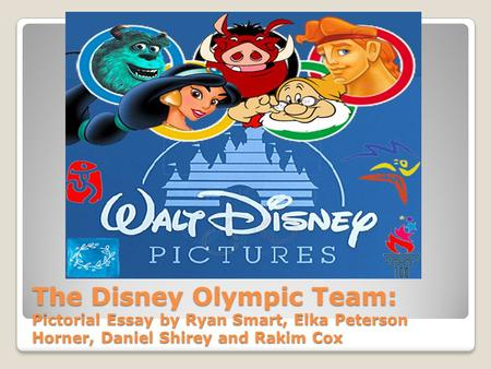 The Disney Olympic Team: Pictorial Essay by Ryan Smart, Elka Peterson Horner, Daniel Shirey and Rakim Cox.