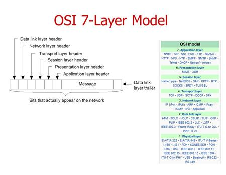OSI 7-Layer Model. Implementation of UDP and TCP CS587x Lecture 2 Department of Computer Science Iowa State University.