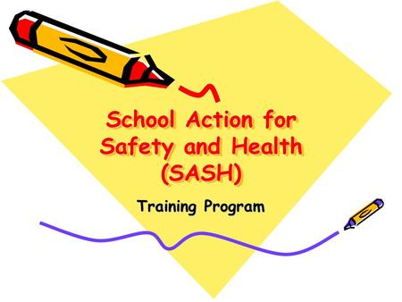 School Action for Safety and Health (SASH) Training Program.