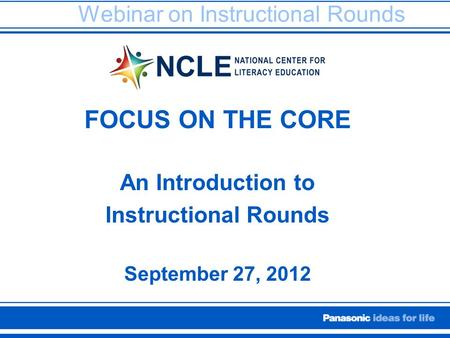Webinar on Instructional Rounds