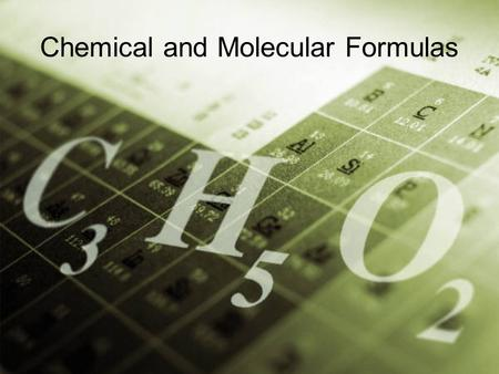 Chemical and Molecular Formulas. Q: How can two elements combine to form more than one chemical compound? A: Letters of the alphabet can be combined in.
