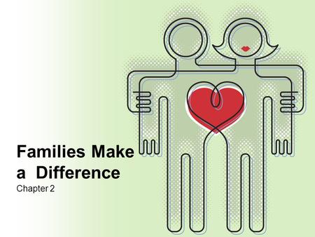 Families Make a Difference Chapter 2. LEQ 1.What is the difference between needs and wants? 2.What are the ways emotional support affects the family and.