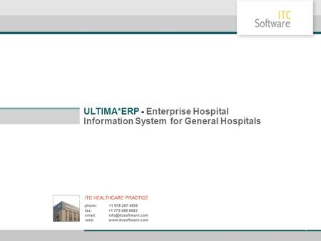 ULTIMA*ERP - Enterprise Hospital