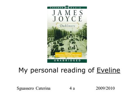 james joyce dubliners eveline pdf