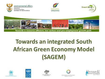 Towards an integrated South African Green Economy Model (SAGEM)