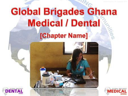 Global Brigades, Inc. Copyright 2009. Our Model 4 days of clinic within 1 community More time with patients Better quality care for patients Better experience.