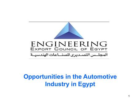 Opportunities in the Automotive Industry in Egypt
