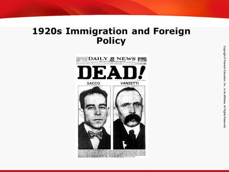 TEKS 8C: Calculate percent composition and empirical and molecular formulas. 1920s Immigration and Foreign Policy.