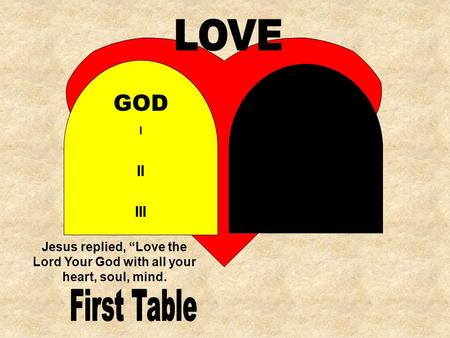 LOVE GOD First Table II III