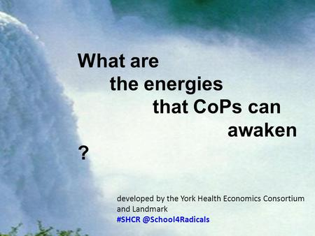What What are the energies that CoPs can awaken ? developed by the York Health Economics Consortium and Landmark