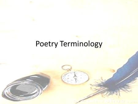 "Poetry Terminology. Stanza Section of line, or verse, of a poem that form a unit Similar in _____and _____scheme Much like the ""paragraphs"" of a poem,"