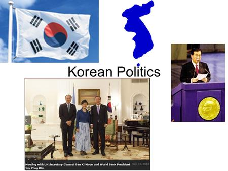 Korean Politics. Outline Republic of Korea –presidential system –National Assembly –judiciary –parties and elections –external relations Democratic People's.