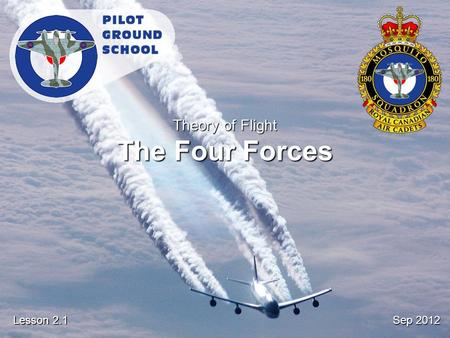 Sep 2012 Lesson 2.1 Theory of Flight The Four Forces.