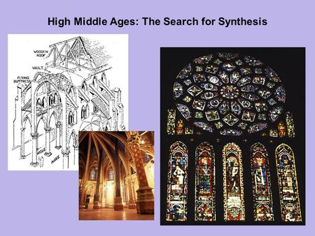 High Middle Ages: The Search for Synthesis. Outline Chapter 10: High Middle Ages: The Search For Synthesis The Significance of Paris The Gothic Style.
