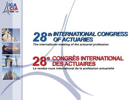 Experience Trends for Income Protection International Congress of Actuaries Paris, France June 1, 2006.
