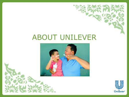ABOUT UNILEVER. About Unilever Unilever is one of the world's leading suppliers of fast-moving consumer goods. We aim to provide people the world over.
