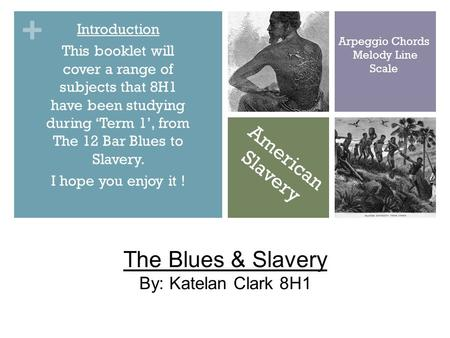 + Introduction This booklet will cover a range of subjects that 8H1 have been studying during 'Term 1', from The 12 Bar Blues to Slavery. I hope you enjoy.