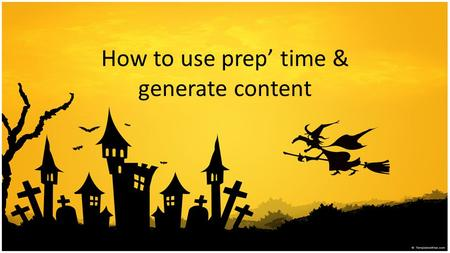 How to use prep' time & generate content. Overview 1.Work as a team. It is not a case of two individual speeches being delivered and/or who can deliver.