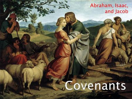 Abraham, Isaac, and Jacob. Genesis 22  25 And whilst Abraham was proceeding with his son Isaac along the road, Satan came and appeared to Abraham.
