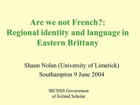 the connection between the nationality and language and the issue of the dead languages Ancestrydna ethnicity prediction: learning to speak genetics  the language of genetic ethnicity  there is no way to make any connection to any of .