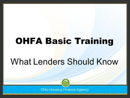What Lenders Should Know
