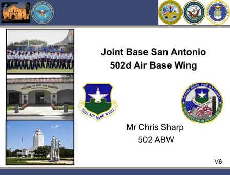 Pwc V6 Mr Chris Sharp 502 ABW Joint Base San Antonio 502d Air Base Wing.