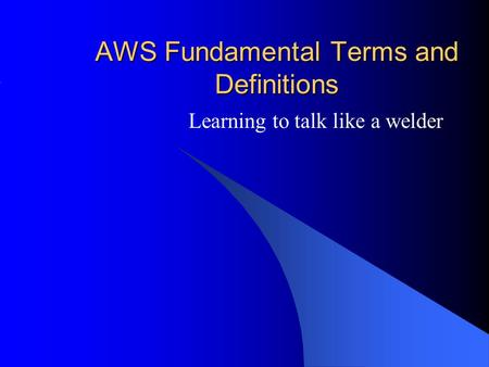 AWS Fundamental Terms and Definitions