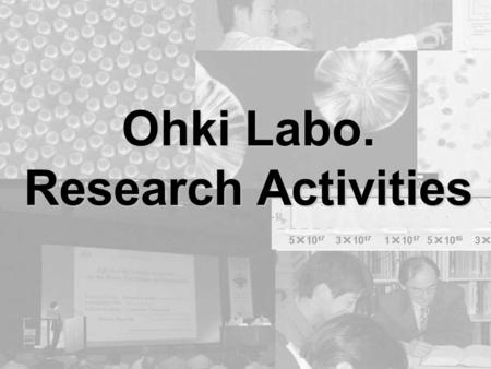 Ohki Labo. Research Activities. Polymer Gr. (Polymer material) 1. Polymer Gr. (Polymer material) Environment problems, Global heating, Biodegradability,