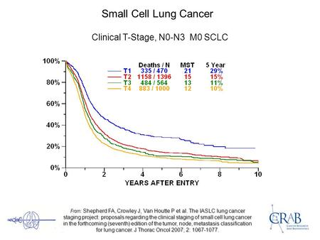 Small Cell Lung Cancer Clinical T-Stage, N0-N3 M0 SCLC From: Shepherd FA, Crowley J, Van Houtte P et al. The IASLC lung cancer staging project: proposals.