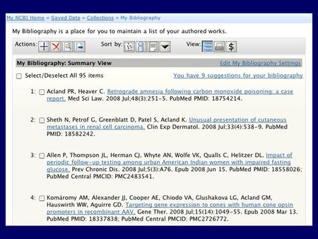 Review Suggested Citations Review Match to PubMed Citation.