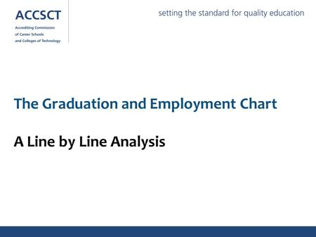 The Graduation and Employment Chart A Line by Line Analysis.