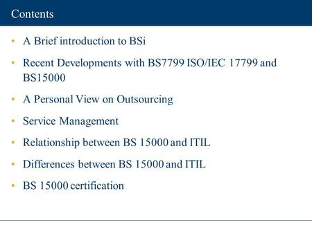 An Introduction To ISO 27001 (ISO27001)