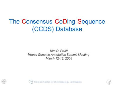 The Consensus CoDing Sequence (CCDS) Database