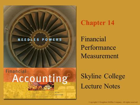 Financial Performance Measurement Skyline College Lecture Notes