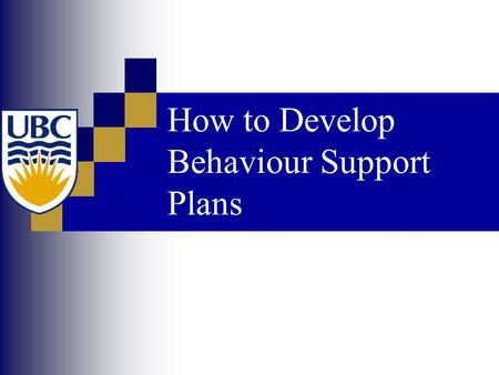 How to Develop Behaviour Support Plans. Our Goals Create plans that will work  Plans with high technical adequacy  Plans with high contextual fit Acceptable.