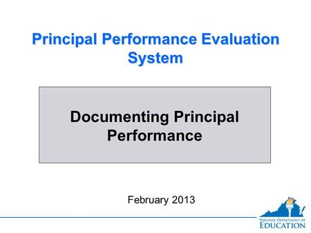 Principal Performance Evaluation System