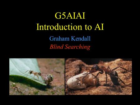G5AIAI Introduction to AI