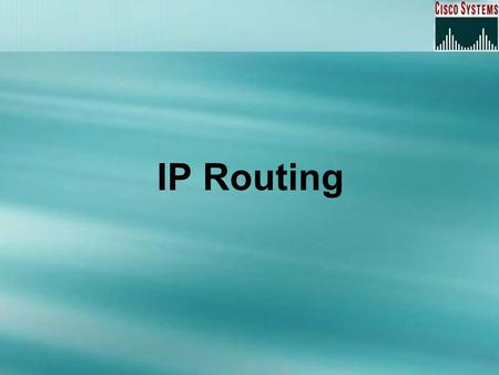 IP Routing. Overview Static routing Default routing Dynamic routing.