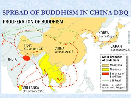 SPREAD OF BUDDHISM IN CHINA DBQ