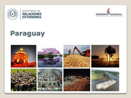 Paraguay. GENERAL INFORMATION Area (km2)406.752 Oficial LanguagesSpanish and Guarani CurrencyGuaraní (Gs.) Population6.672.631 (2012) GDP in US MillionsUS$