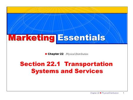 Section 22.1 Transportation Systems and Services
