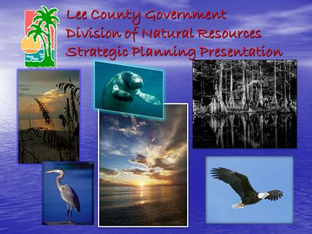 Lee County Government Division of Natural Resources Strategic Planning Presentation.