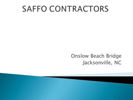 Onslow Beach Bridge Jacksonville, NC.  This project called for abrasive blasting and protective coating application to the Onslow Beach Bridge, a rotating.