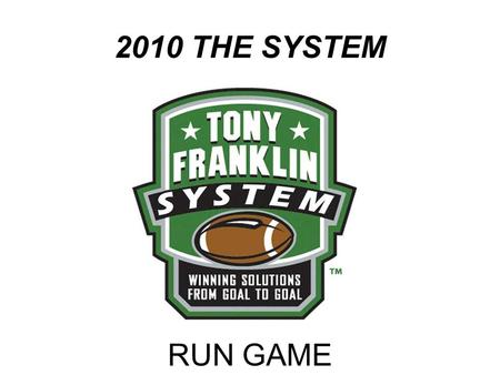 "2010 THE SYSTEM RUN GAME. ""STRETCH"" THE MIDDLE TENNESSEE ""STRETCH"""