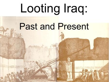 Looting Iraq: Past and Present. Museum Director inspects the damage April 12, 2003.