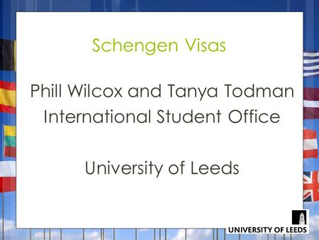 Phill Wilcox and Tanya Todman International Student Office